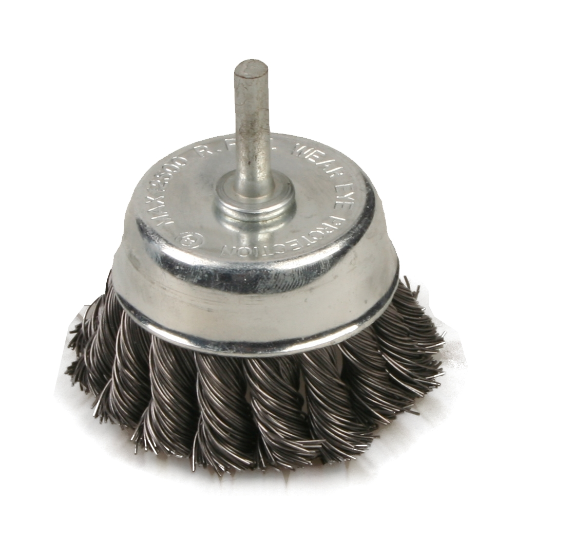 Brufer 401010 2-1/2″ Threaded Knot Wire Cup Brush