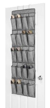 Whitmor 6283-10-CTF  Over the Door Shoe Bag Crosshatch Gray
