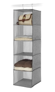 Whitmor 6283-300 Hanging Accessory Shelves Crosshatch Gray
