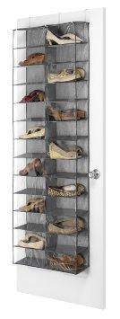 Whitmor 6283-4457 Over the Door Shoe Shelves Crosshatch Gray