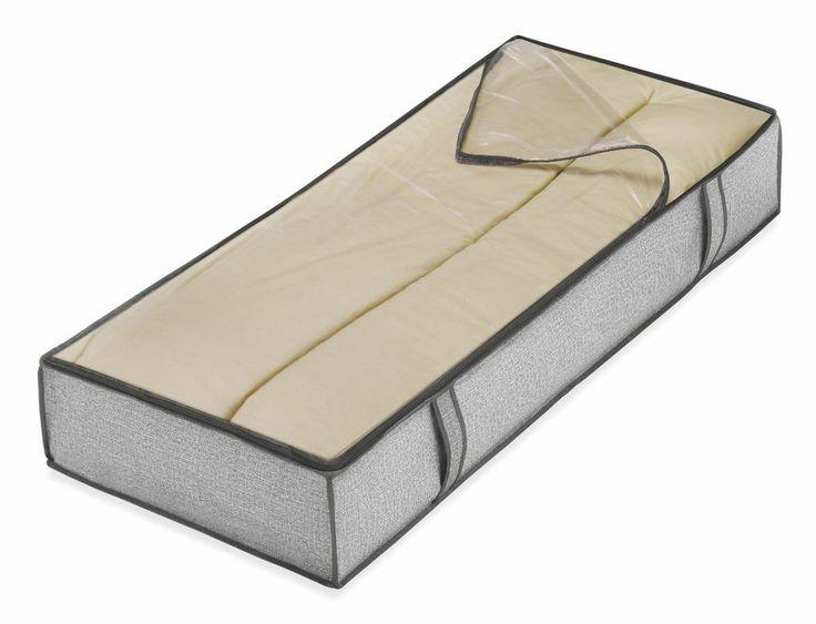 Whitmor 6283-75 Underbed Storage Bag Crosshatch Gray