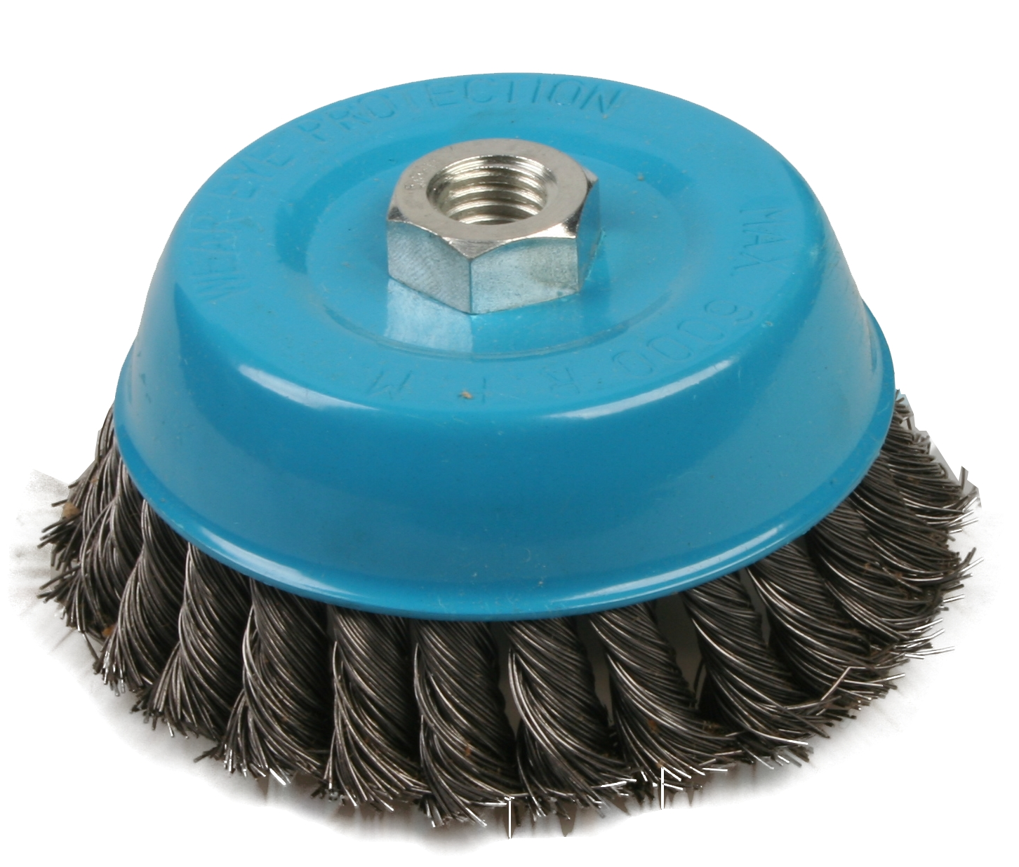 Brufer 95135 4″x5/8″ Threaded Knot Wire Cup Brush